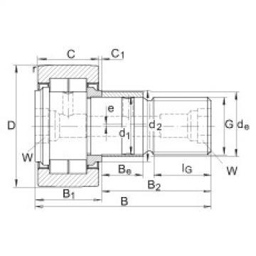 Stud type track rollers - NUKRE47