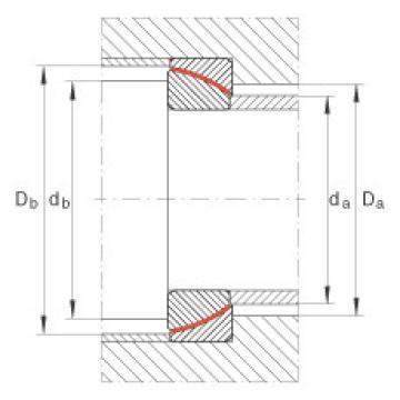 Angular contact spherical plain bearings - GE25-SW