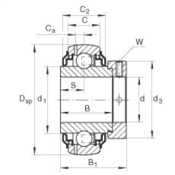 Radial insert ball bearings - GE25-XL-KRR-B-2C
