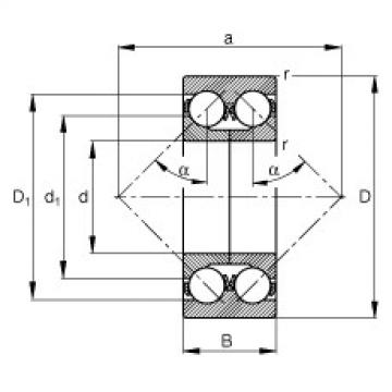 Angular contact ball bearings - 3318-DA-MA