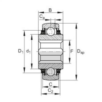 Self-aligning deep groove ball bearings - GVK100-208-KTT-B-AS2/V