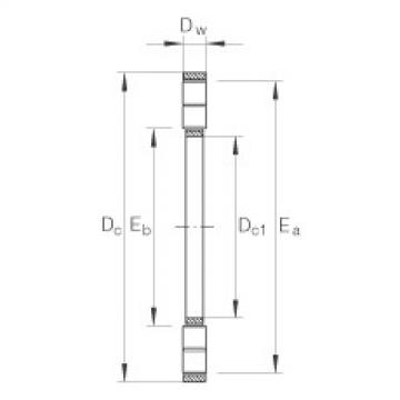 Axial cylindrical roller and cage assembly - K89464-M