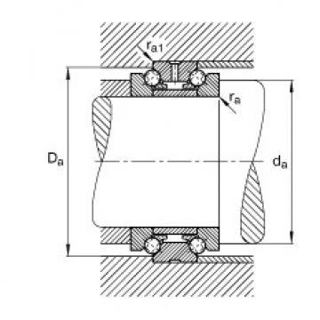 Axial angular contact ball bearings - 234412-M-SP