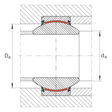 Radial spherical plain bearings - GE100-FW-2RS