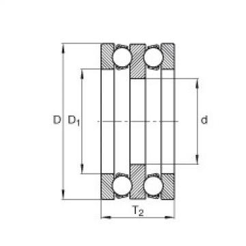 Axial deep groove ball bearings - 195X02