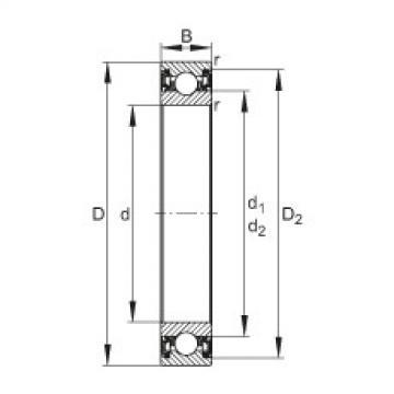 Deep groove ball bearings - 61814-2RZ-Y