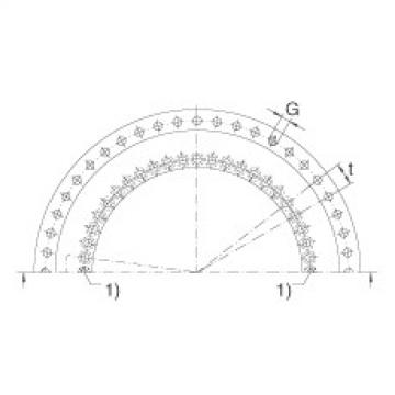 Axial/radial bearings - YRT580