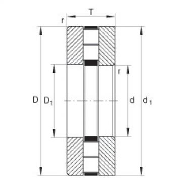 Axial cylindrical roller bearings - 89452-M