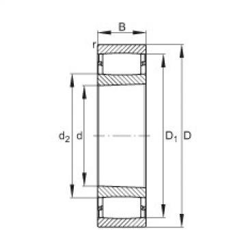 Toroidal roller bearings - C39/710-XL-K-M