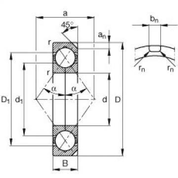 Four point contact bearings - QJ219-N2-MPA
