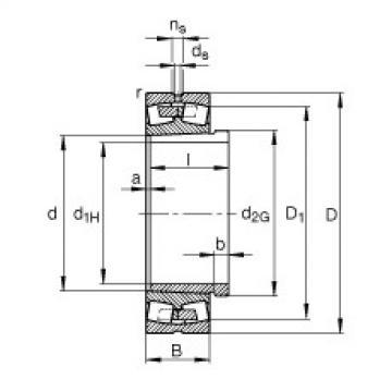 Spherical roller bearings - 23996-B-K-MB + AH3996-H