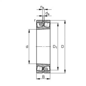 Spherical roller bearings - 249/1180-B-K30-MB
