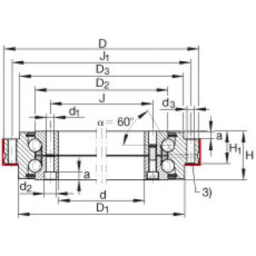 Axial angular contact ball bearings - ZKLDF460