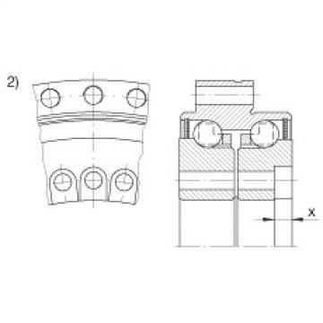 Axial angular contact ball bearings - ZKLDF100