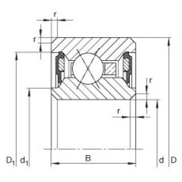 Thin section bearings - CSXU075-2RS