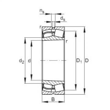 Spherical roller bearings - 24180-BE-XL-K30