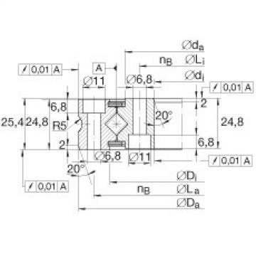 Crossed roller bearings - XSU080258