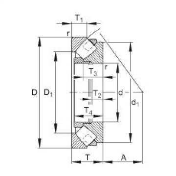 Axial spherical roller bearings - 293/850-E1-MB