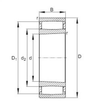 Toroidal roller bearings - C41/600-XL-K30-M1B