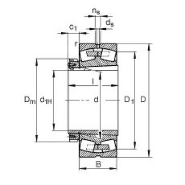 Spherical roller bearings - 239/800-B-K-MB + H39/800-HG