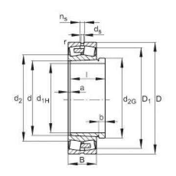 Spherical roller bearings - 23096-BEA-XL-K-MB1 + AHX3096G-H