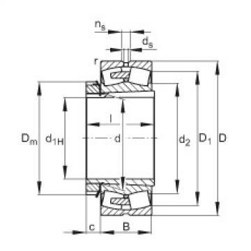 Spherical roller bearings - 23180-BEA-XL-K-MB1 + H3180-HG
