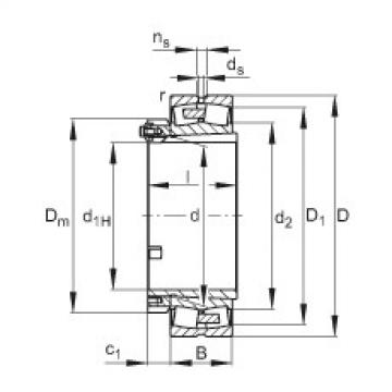 Spherical roller bearings - 23068-BEA-XL-K-MB1