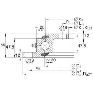 Four point contact bearings - VLU200414