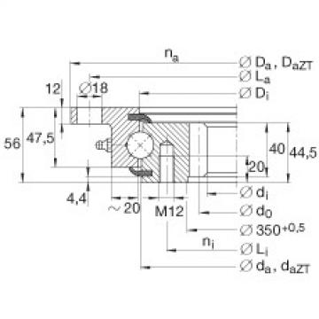 Four point contact bearings - VLI200414-N