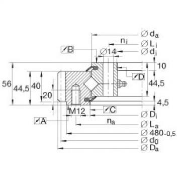 Crossed roller bearings - XSA140414-N