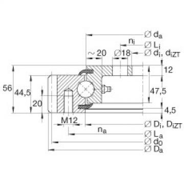 Four point contact bearings - VLA200644-N