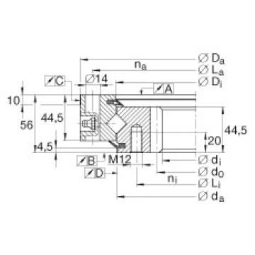 Crossed roller bearings - XSI140644-N