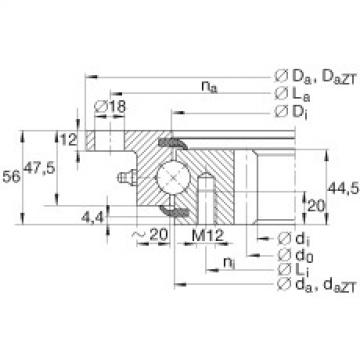 Four point contact bearings - VLI200744-N