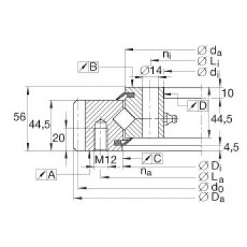 Crossed roller bearings - XSA140844-N