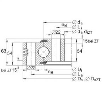 Four point contact bearings - VSU251055