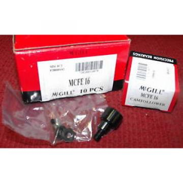McGill - 16mm, Metric Cam Follower - Part #MCFE-16 - Box of 10 pieces - NEW