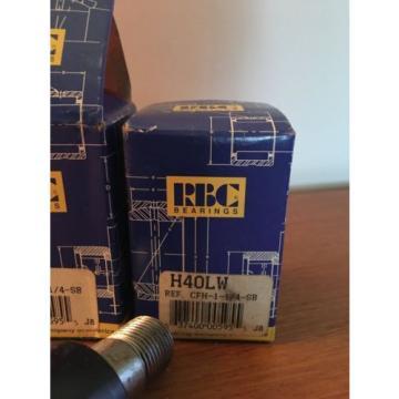 NIB RBC PRECISION BEARINGS H40LW CAM FOLLOWER