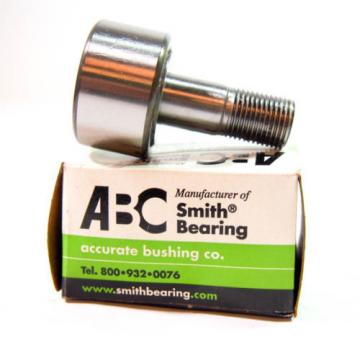 "Accurate Bushing CR-1-1/2-SS Stud Cam Follower, 1-1/2"" Dia, 7/8"" Width, 1991zJF2"