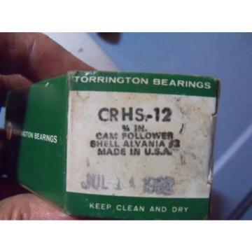 "Torrington Stud Cam Follower Bearing CRHS-12 3/4"""