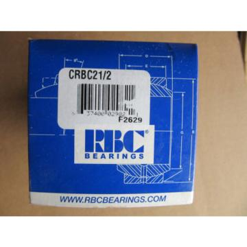 RBC Bearings CRBC21/2 Cam Follower CRBC2-1/2 NEW!!! in Box Free Shipping