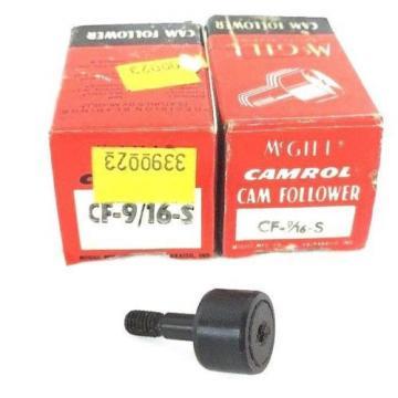 LOT OF 2 NEW MCGILL CF-9/16-S CAMROL CAM FOLLOWER