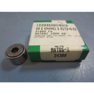 1 Nib Ina NATR6-X 34380 Cam Follower Bearing  RD 19mm RW 11mm Bore Dia 6mm