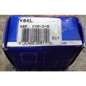 """RBC Cam Follower Y64L 2.000"""" OD x 0.6250"""" ID, Yoke Type Sealed Cam Follower"""