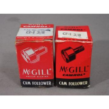 LOT of 2 McGill Camrol Cam Follower CF-1 3/8