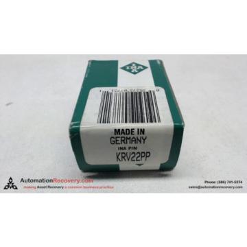 INA KRV22PP CAM FOLLOWER BEARING 10X22X12 M10X1, NEW #110046