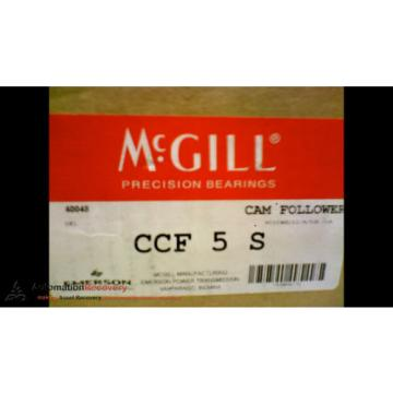 MCGILL CCF 5 S CAM FOLLOWER  5 INCH OUT SIDE ROLLER DIAMETER, NEW #173438