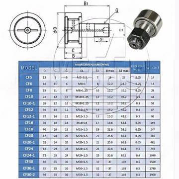 KR/KRV 12 - 52 OR CF4 - 20-1 CAM FOLLOWER NEEDLE ROLLER BEARING SELECT SIZE