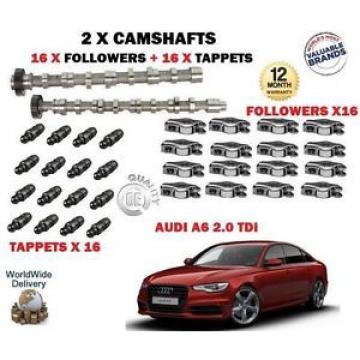 FOR AUDI A6 2.0 TDI 2008->NEW 2X CAMSHAFT CAM SET & 16x FOLLOWERS + 16 x TAPPETS
