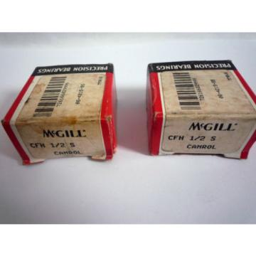 2 MCGILL CFH 1/2 S CAMROL CAM FOLLOWERS / NEW OLD STOCK