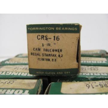 LOT OF 9 TORRINGTON BEARINGS CRS-16 CAM FOLLOWER NIB!!!